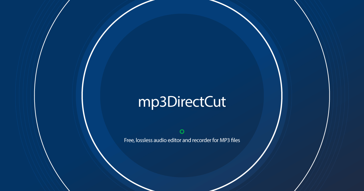 Download mp3DirectCut latest release