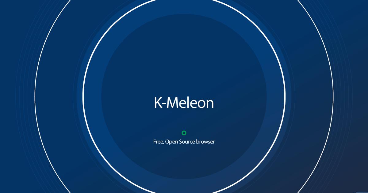 Download K-Meleon latest release K Meleon Browser Logo