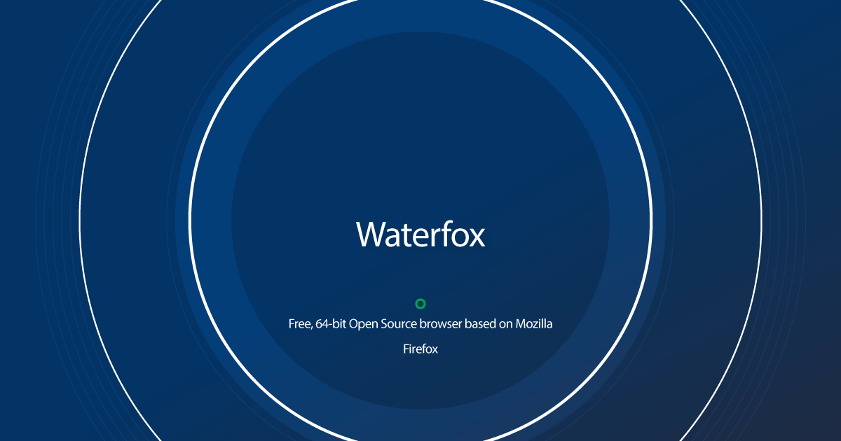 Download Waterfox older versions
