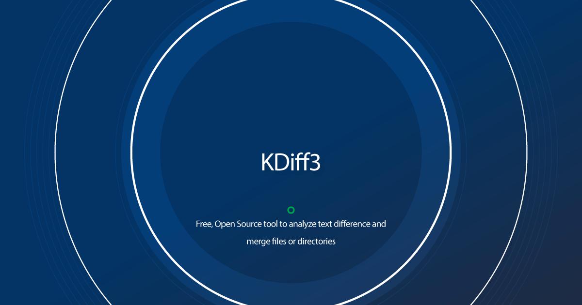 Download KDiff3 latest release