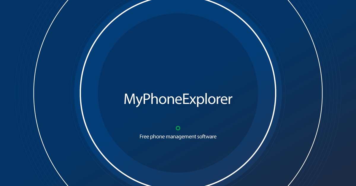 Download MyPhoneExplorer latest release