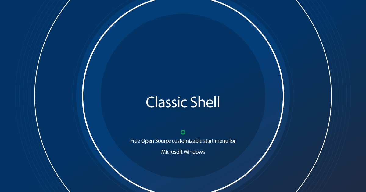 Download Classic Shell latest release